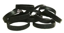 Black Awareness Bracelets 12 Piece Lot Silicone Wristband Cancer Cause IMPERFECT