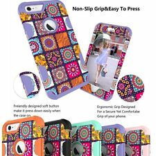 Hybrid Patterned Shockproof Rubber Hard Case Cover For Apple iPhone 6 6S Plus