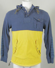 NEW $165 Polo Ralph Lauren Anorak Jacket (Coat)!  Weathered Faded  Blue & Yellow