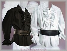 Victorian Frilled Shirt black or white Edwardian Steampunk Wedding Vintage Goth
