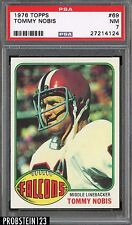 1976 Topps Football #69 Tommy Nobis Falcons PSA 7 NM