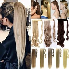 THICK Ponytail Clip In Hair Extension Wrap Pony Tail Fake Hairpiece For human LP