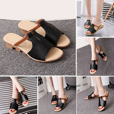 New Women Summer Sandals Faux Leather Slippers Flip Flop Comfortable Lady Shoes