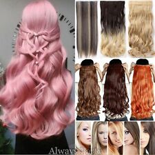 Real Thick Full Ombre Clip in Full Head Hair Extensions Extension As Human Hair