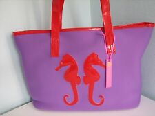 NWOT MACBETH Collection Neoprene Preppy Beach Shopping Carry All Bag Purse