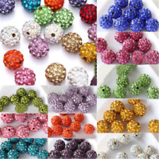 20 Pcs DIY Czech Crystal Rhinestones Pave Clay Round Disco Ball Spacer Bead Gift