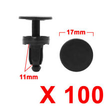 100pcs Black Plastic Splash Guard Trim Moulding Bumper Clips for 7mm x 7mm Hole