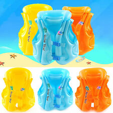 Kids Baby Adult Inflatable Sea Swimming Pool Vest Float Aid Jacket Swim Training