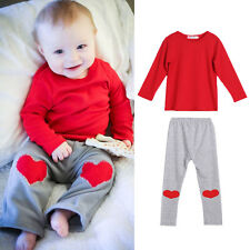 2pcs Toddler Infant Baby Boy Outfits T-shirt Tops+Pants Outfits Set Clothes