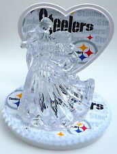 Wedding Cake Topper Pittsburgh Steelers Football Themed Clear Couple Dancing Fan