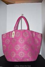 Mud Pie The Shimmer Juco Tote In Fuchsia #04961272 NWT