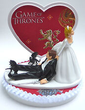 Wedding Cake Topper Game of Thrones Themed Bride Groom's Top Humorous w/Garter
