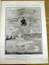 BEST 1910 newspaper PAULHAN wins LONDON to MANCHESTER Daily Mail AVIATION PRIZE