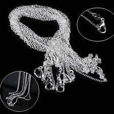"""Lots 925 Plated Silver Snake/Rolo Necklace Chains Jewelry Necklaces 16-24""""inch"""