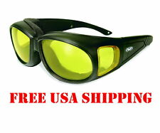 GLOBAL VISION FOAM PADDED FIT OVER GLASSES MOTORCYCLE RIDING SUNGLASSES BIKER