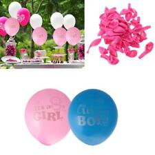100 x Cute Its A Boy Girl Latex Balloons Baby Shower christening Party Decor