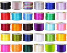 1 mm Nylon Macrame Chinese Knoting Rattail Satin Cord DIY Shamballa String WIre