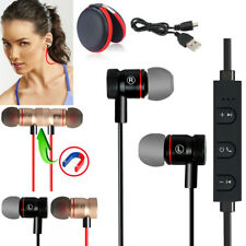 Black -YP56 Magnetic Bluetooth Handsfree Headset Earphone For Cell Phone Apple