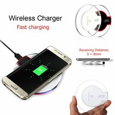 Universal Wireless Qi Charging Phone Charger Dock For Samsung Galaxy S6 S7 NEW