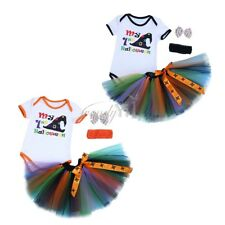 Newborn Infant Kids Baby Girls Outfit Romper+Ruffle Skirt+Headband Clothes Set