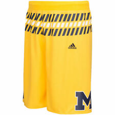 Michigan Wolverines adidas Premier Basketball Shorts - Maize - NCAA