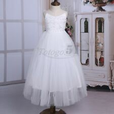 Lace Tulle Flower Girls Formal Dress Wedding Bridesmaid Party Prom Gown Pageant
