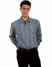 Scully Western Shirt Mens L/S Stripe Snap Signature Series PS-220