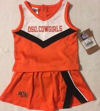 "Oklahoma State ""OSU Cowgirls"" Infants/Toddlers 3-Piece Cheer Outfit Cheerleading"
