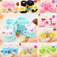 Baby Girl Boy Anti-slip Socks Cartoon Newborn Slipper Shoes Boots Warm 18Colors