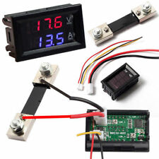 DC100V 10 /50 /100A Voltmeter Ammeter LED Digital Volt Amp Meter Gauge Cheap!