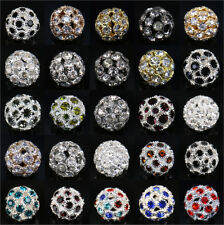 Lots 14mm Crystal Rhinestone Ball Loose Beads Bracelet Necklace Jewelry Making