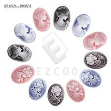 Flatback Oval Lady Portrait Cameo Character Resin Cabochons Jewellery Wholesale