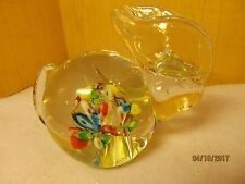 Millefiori Glass Rabbit Lenwile Glass Ardalt Japan 1950s/60s Bunny Paperweight