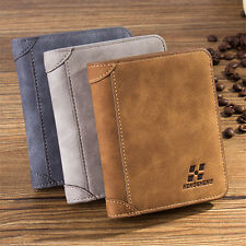 Men PU Leather ID credit Card holder Clutch Bifold Coin Purse Wallet Pockets HS