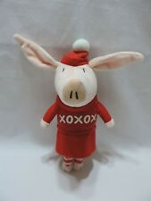 """Olivia The Pig Spin Master Plush Stuffed Animal Toy Red XOXOX 10"""" Cute 2011"""