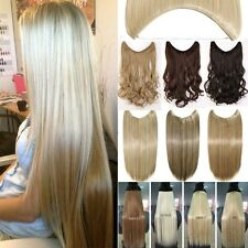 100% Secret Headband Wire in Hair Extensions Piece Long Layered Blonde Brown UK