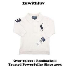 RALPH LAUREN BABY BOYS COTTON BIG PONY POLO LONG SLEEVE SHIRT 9M 12M 18M