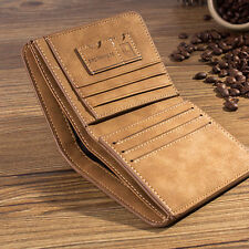 Men PU Leather ID credit Card holder Clutch Bifold Coin Purse Wallet Pockets U