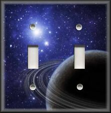 Metal Light Switch Plate Cover - Space Decor Saturn Stars Home Decor Wallplate