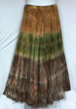 Women Tie Dye Long Wrap Skirt Dress One Size Doesn't Come S M L XL 1X 2X 3X 4X