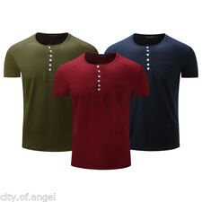 Stylish Mens Tee Shirt Slim Fit O Neck Short Sleeve Muscle Casual Tops T Shirts