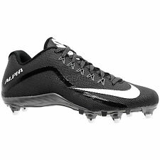 Nike Alpha Pro 2 Low D Mens Football Cleats w/ Detachable Studs : Black