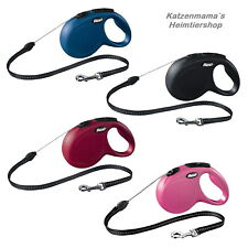 Flexi Dog Lead NEW Classic Long Retractable Lead 8 M- 20 kg Cord Roll-Up Lead