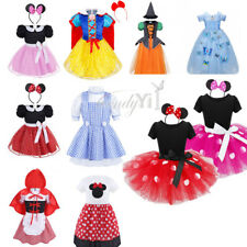 Kids Girls Costume Princess Cosplay Party Princess Halloween Fancy Dress Clothes