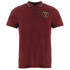 Source Lab Mens West Ham United Polo Shirt Football Tee Top Short Sleeve Button