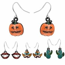 Halloween Party Pumpkin Ghost Dangle Hook Earrings Women Girl Hallowmas Jewelry