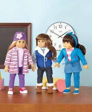 """18"""" Dolls Blonde Brunette & Clothes Shoes Made to Fit American Girl Cute Outfits"""