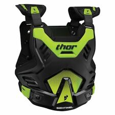 Thor Sentinel GP Chest Protector Roost Guard Flo Green Motocross Offroad Adult