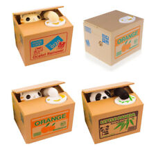 Automatic Saving Piggy Bank Money Box Stealing Coin Panda Cents Penny Cat 1 Pcs