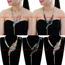 Fashion Jewelry Chain Rhinestone Crystal Acrylic Collar Pendant Bib Necklace New